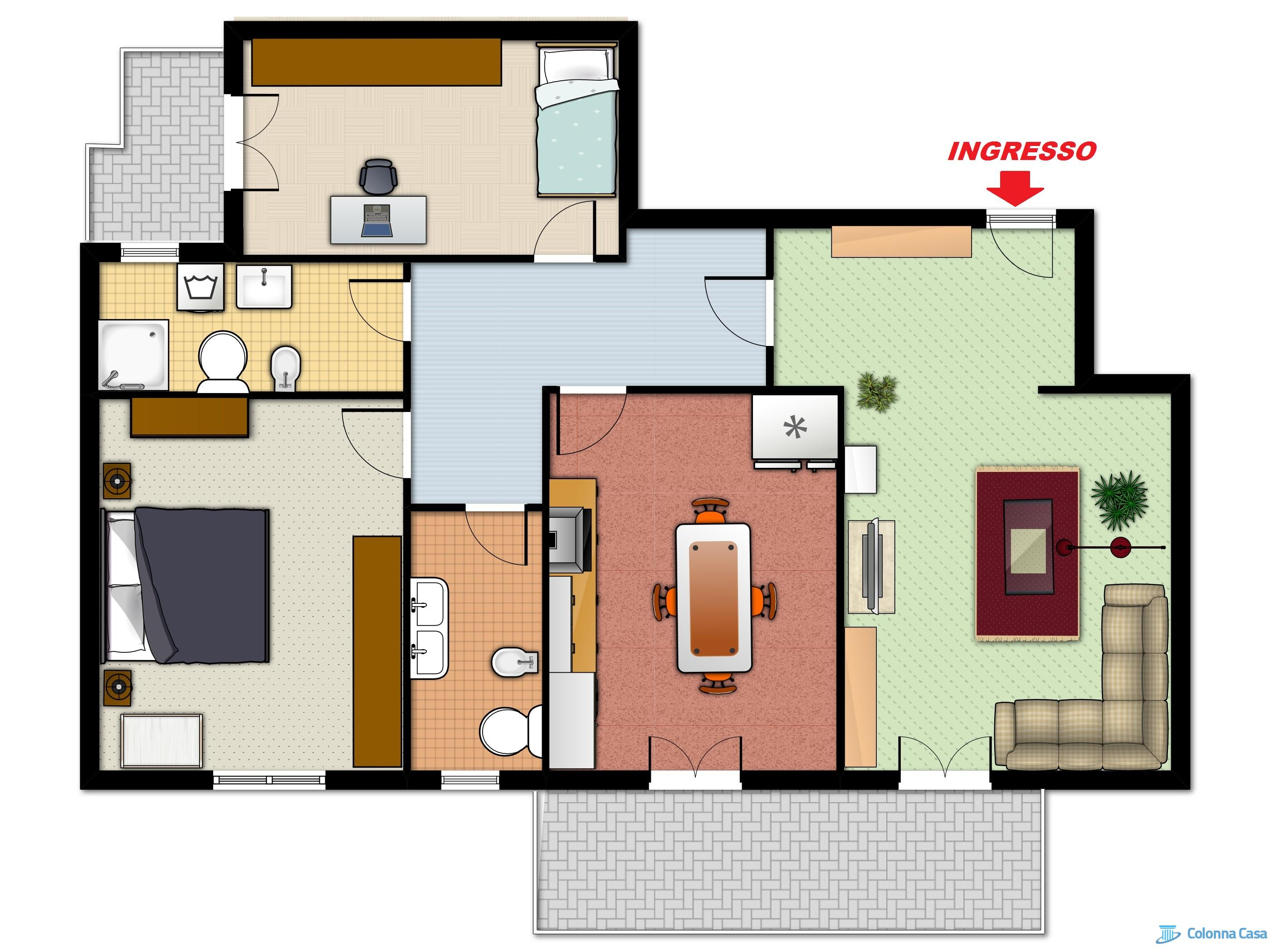 428 1487700885 pianta arredata colonna casa for Progettare una casa online