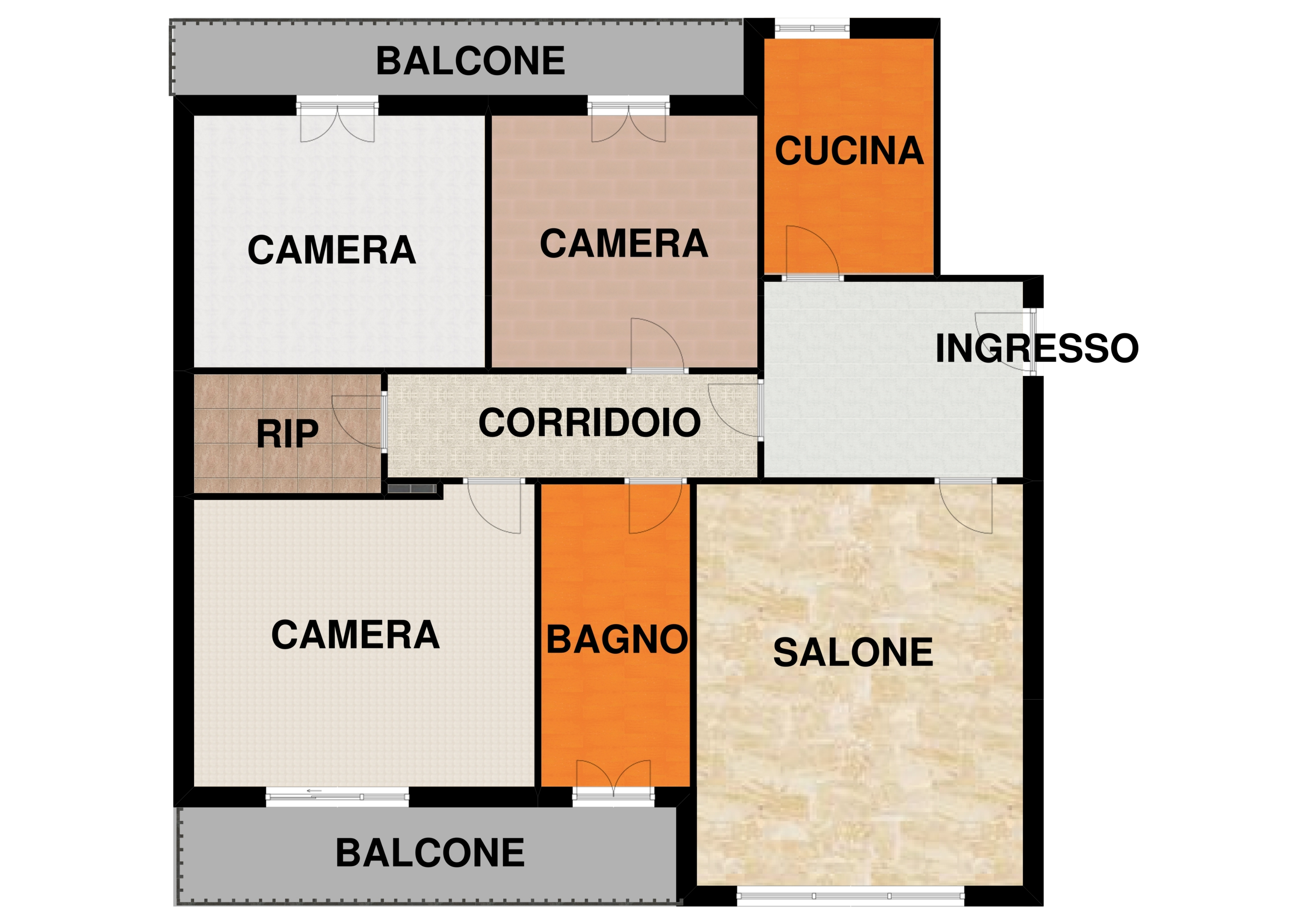 Appartamento 4 vani ed accessori ad Avellino