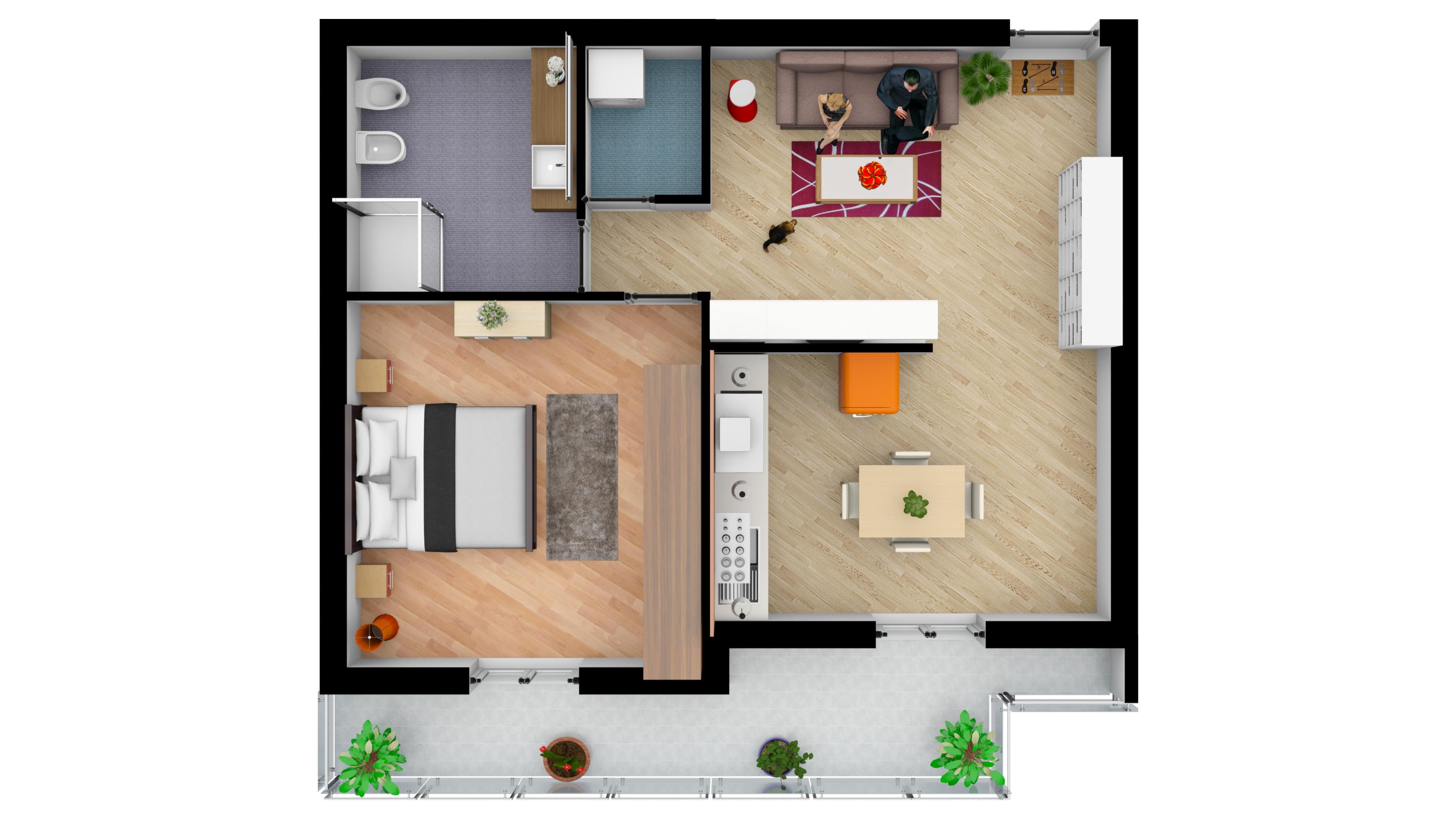 Appartamento bilocale nuova costruzione nei pressi del Teatro di Avellino